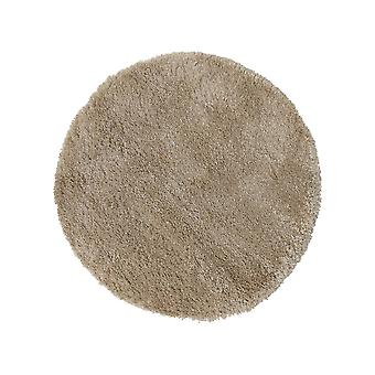 Brilliance Sparks Circle Shaggy Rugs In Beige