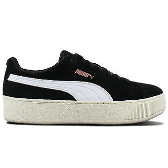 Puma Vikky Plattform SD Suede - Damen Plateu Schuhe Schwarz 368012-02 Sneakers Sportschuhe