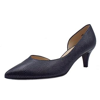 Peter Kaiser Caete Kitten Heel Pointy Toe Court Shoes In Notte Pin