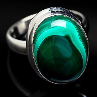 Malachite Ring Size 6.25 (925 Sterling Silver)  - Handmade Boho Vintage Jewelry RING3762