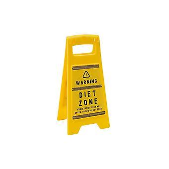 Eureka Diet Zone Desk Sign