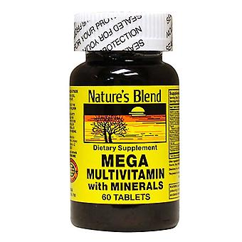 Nature's blend mega multivitamin with minerals, tablets, 60 ea