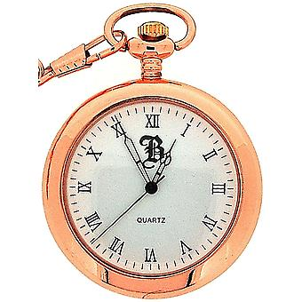 BOXX miehet roomalainen avoimet kasvot Rose sävy Pocket Watch BOXX240