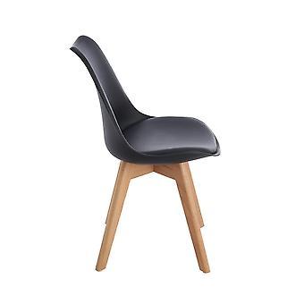 Wood4you - Frankfurt Black Oak Essstuhl - Pariso - Low - Sitzhöhe: 41 cm - 2 Stück