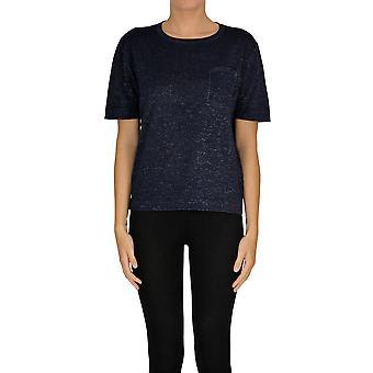 Alyki Ezgl111018 Kvinder's Blå Bomuldsweater