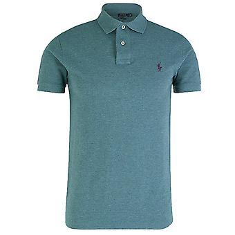 Ralph lauren men's blauwe mergel polo shirt
