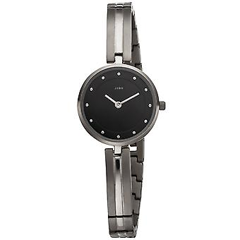 JOBO reloj de pulsera de mujer cuarzo analógico de titanio estrecho pulsera