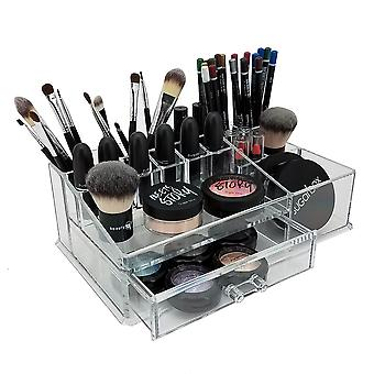 OnDisplay Deluxe Cosmetic Makeup and Jewelry Organization Tray - Perfect for Vanity, Bathroom Counter, or Dresser