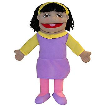 The Puppet Company Puppet Buddies Small Girl Olive Skin