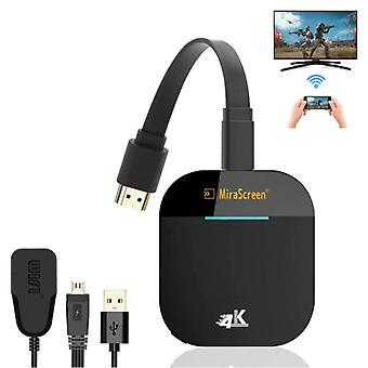Amkle MiraScreen G5 Miracast TV Stick 4K Cast HDMI 5G WiFi Receiver iPhone & Android