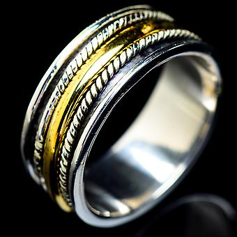 Meditation Spinner Ring Size 7 (925 Sterling Silver)  - Handmade Boho Vintage Jewelry RING5473