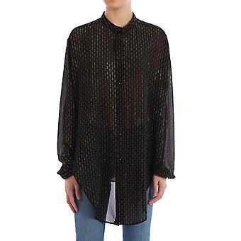 Saint Laurent 605378y4a111055 Women's Black Viscose Shirt