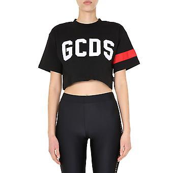 Gcds Cc94w02100502 Women's Zwart Katoen T-shirt