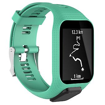 for TomTom Spark Replacement Wristband Bracelet Strap Band Metal Buckle GPS Watch[Teal]