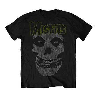 Men's The Misfits Classic Distressed Logo Black T-Shirt
