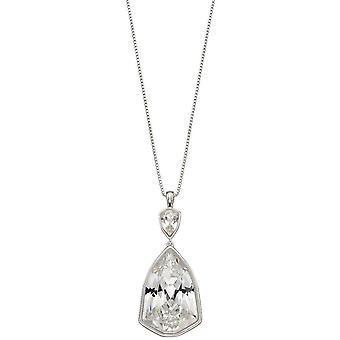 Elementer Sølv trilliant form krystal vedhæng - sølv / klar