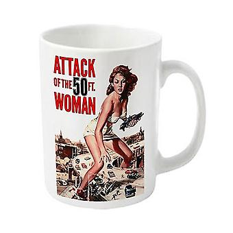 Plan 9 Mug Attack Of The 50ft Woman Official New White Boxed