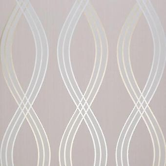 Dulux St Laurent Wallpaper Silver Gold Grey Geometric Metallic Paste The Wall