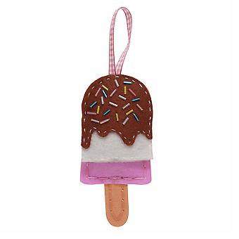 Sewing Kit to Make a Felt Ice Lolly Decoration