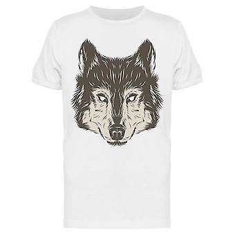 Wolf Head Hand Draw Tee Miehet&s -Kuva Shutterstock