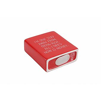 CGB Giftware Strictly Business One Step Away From Being Rich Red Money Bank