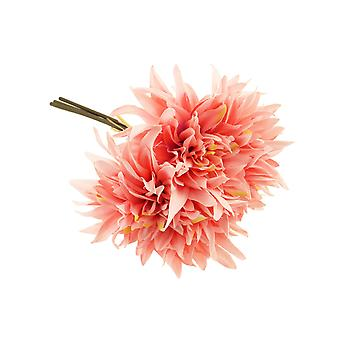 27cm Pink Dahlia - 3 Short Artificial Fabric Flower Stems