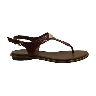 Michael Michael Kors Womens Plate Leather Open Toe Casual Slingback Sandals