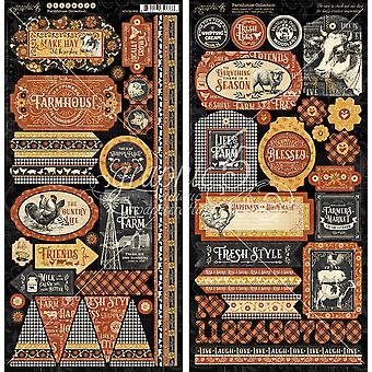 Graphic 45 Farmhouse Stickers