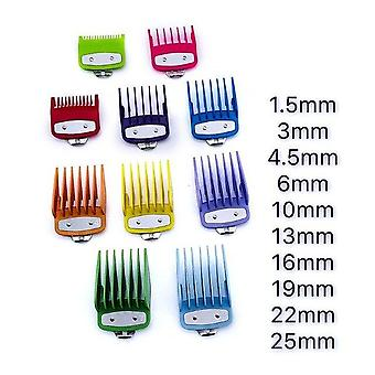 Colorful Guide Comb with Multiple Sizes Metal Limited Combs - Hair Clipper