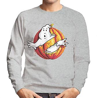 Ghostbusters Pumpkin No Ghost Logo Men's Sweatshirt