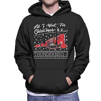 Thunderbirds Alt hvad jeg ønsker til jul er Thunderbird 3 Men's Hooded Sweatshirt