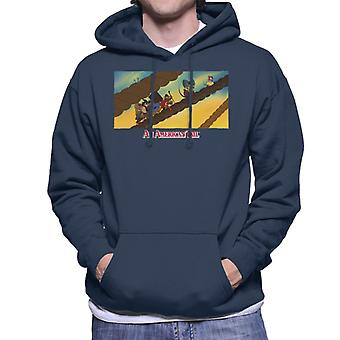 An American Tail Fievel And Family On Rope Men's Hooded Sweatshirt