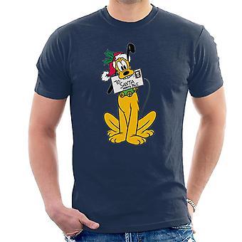 Disney Weihnachten Pluto Santa Brief Männer's T-Shirt