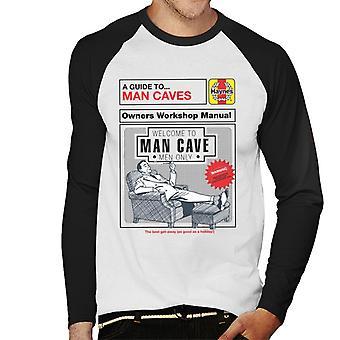 Haynes Man Caves Owners Workshop Manual Men's Baseball Long Sleeved T-Shirt