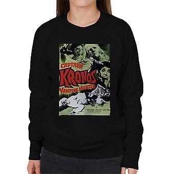 Hammer Horror Films Capitano Kronos Classic Poster Donne's Sweatshirt