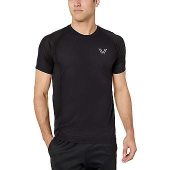 Peak Velocity Men's VXE Cloud Run Short Sleeve Quick-Dry Athletic-Fit T-Shirt, Black, Small