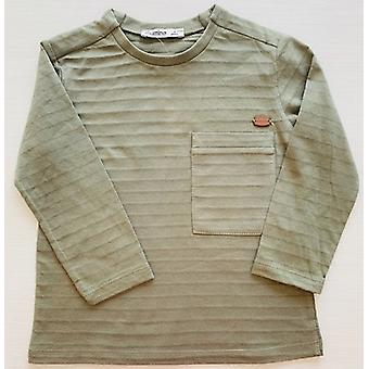 Mamino  Boy  Haki   Khaki   Long Sleeves Tee Shirt