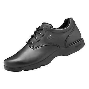 Ascent apex black lace-up school shoes (wide)