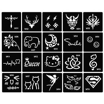 Airbrush Stencil - Cross Cat Flower Tattoo Stencils Diy Glitter Tattoo Stencil