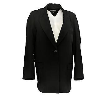 بروك شيلدز المرأة & ق بليزر الخالدة المنسوجة سترة بدلة الأسود A342021