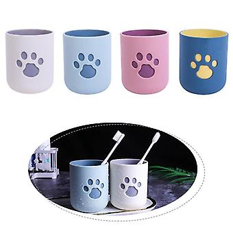 Cat Claw Pattern Toothbrush Cup For Travel Bathroom - Portable Washing Cup Storage Organizer