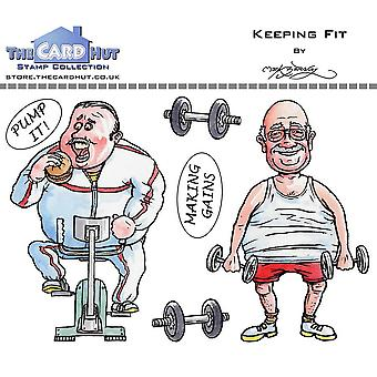The Card Hut Keeping Fit Clear Stamps