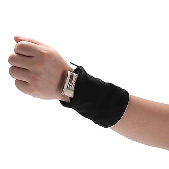 Outdoor Wrist Band With Key/card Storage Zipper Ankle Wrap Safety Bag/wallet -