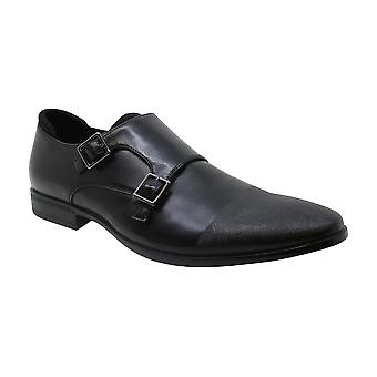 Kenneth Cole Reaction Mens Edison Monk Leather Buckle Dress Oxfords