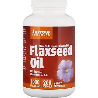 Formules Jarrow, Huile de lin biologique, 1 000 mg, 200 Softgels