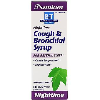 Boericke & Tafel, Cough & Bronchial Syrup, Nighttime , 8 fl oz (240 ml)