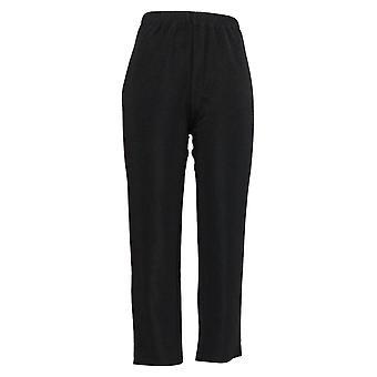 Susan Graver Women's Petite Pants Essentials Lustra Knit Skinny Black A7933