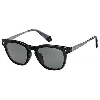 نظارات شمسية للجنسين 6080/S08A/M9 مربع أسود / رمادي