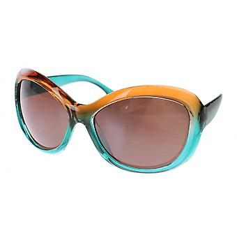 Sunglasses Women's Blue / Brown with Brown Lens (A60417)