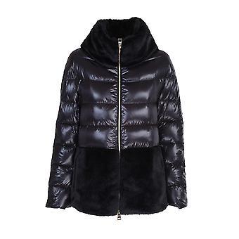 Herno Pi1123d120179300 Dames's Zwart Nylon Down Jacket